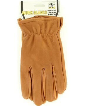 HD Xtreme Tan Suede Deerskin Gloves, Light Brown, hi-res