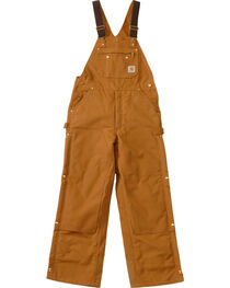 Carhartt Men's Duck Zip-To-Thigh Quilt Lined Bib Overall, , hi-res