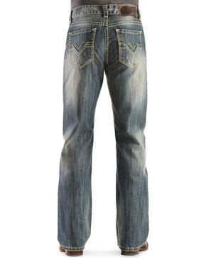 Rock & Roll Cowboy Men's Double Barrel Relaxed Bootcut Jeans, Denim, hi-res