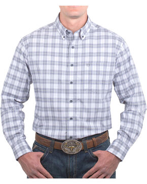 Noble Rider Men's Generation Plaid Long Sleeve Shirt, Grey, hi-res