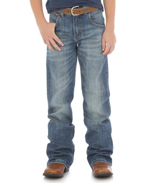 Wrangler Boys' Retro Boot Cut Jeans (8-16), Blue, hi-res