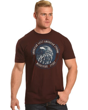 Moonshine Spirit Men's American Built Short Sleeve T-Shirt , Heather Red, hi-res