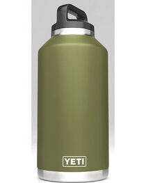 Yeti Olive Green 64 oz. Bottle Rambler , , hi-res