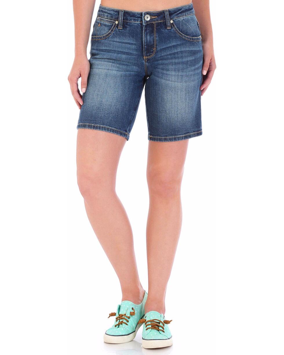 Wrangler Women's Aura Instantly Slimming Bermuda Shorts, Indigo, hi-res