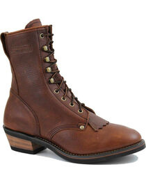 Ad Tec Men's Packer Western Work Boots, Brown, hi-res