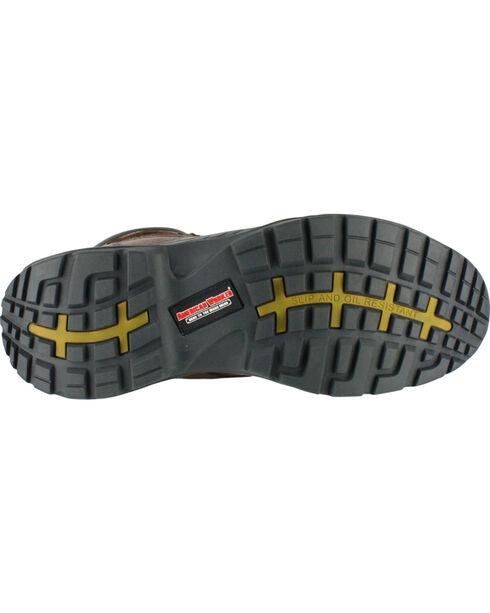 American Worker® Men's Steel Toe Work Boots, Brown, hi-res