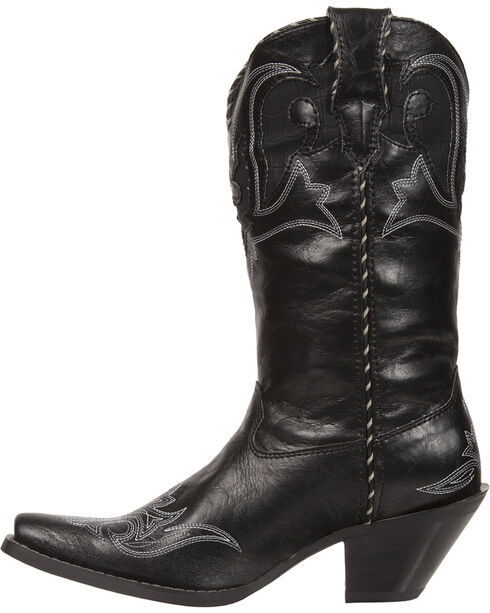 Durango Women's Crush Peek-A-Boot Western Boots - Snip Toe, Black, hi-res