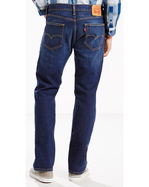 Levis Men's Strauss 505 Regular Fit Jeans - Straight Leg , Indigo, hi-res