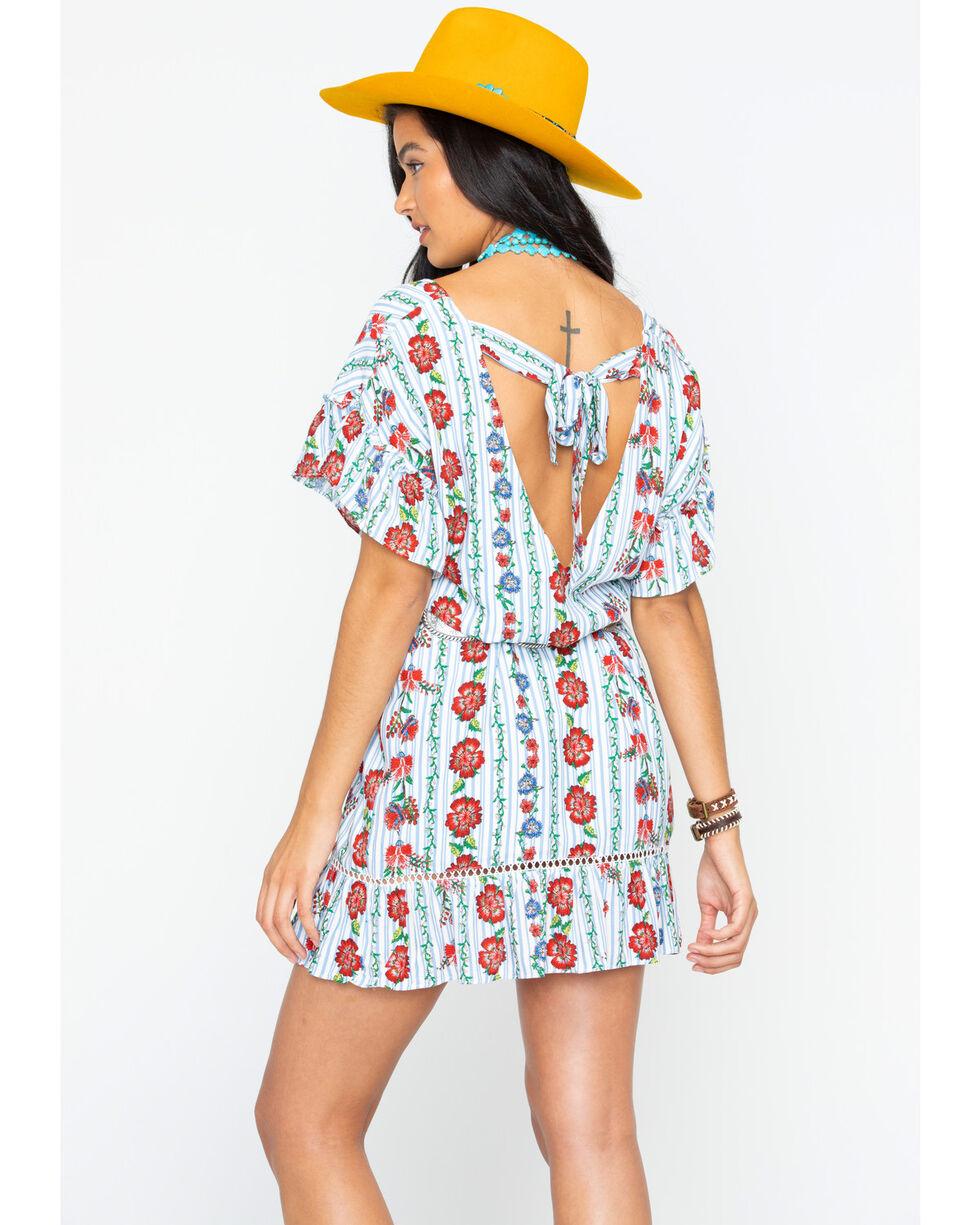 Miss Me Women's Spring It On Dress, Blue, hi-res