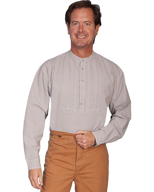 Rangewear by Scully Pleated Inset Bib Shirt - Big and Tall, Grey, hi-res