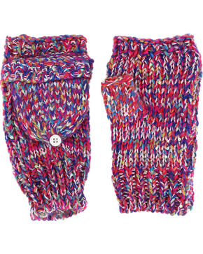 Shyanne® Women's Space Dye Convertible Mitten Gloves, Multi, hi-res