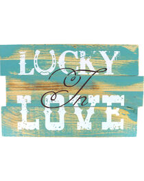 Lucky Love Wooden Sign, , hi-res