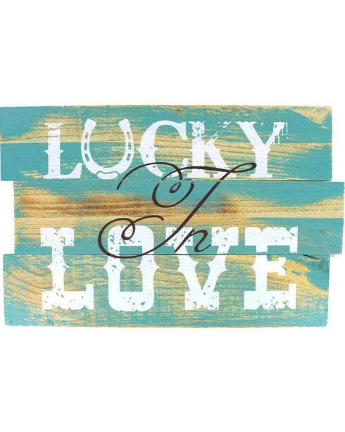 Lucky Love Wooden Sign, No Color, hi-res