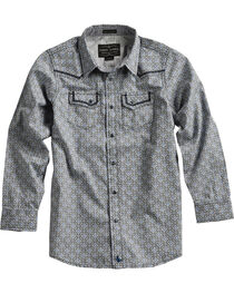 Cody James® Boys' Diamond Printed Western Long Sleeve Shirt, , hi-res