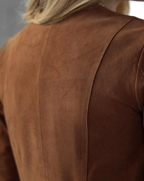 Ryan Michael Women's Fringe Leather Jacket, Tan, hi-res