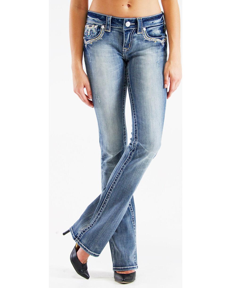 Grace in L.A. Women's Medallion Bootcut Jeans, , hi-res
