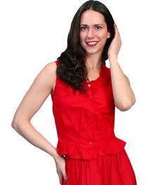 Rangewear by Scully Ruffled Sleeveless Top, , hi-res