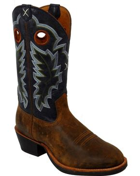 Twisted X Men's Ruff Western Boots, Tan, hi-res