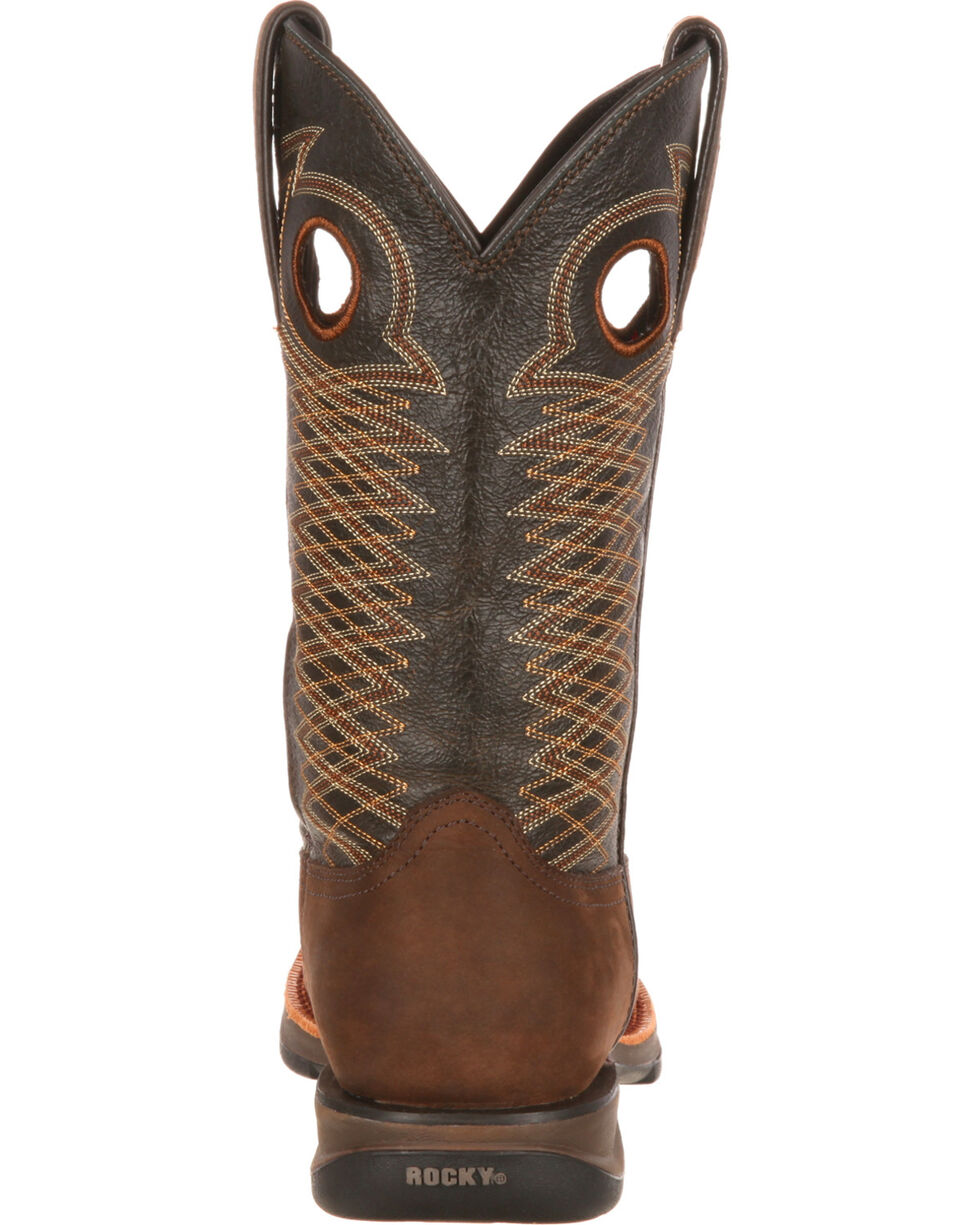 Rocky Men's Brown Ride Western Boots - Square Toe , Brown, hi-res