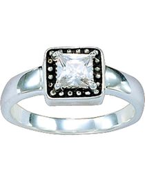 Montana Silversmiths Western Princess Solitaire Ring - Size 7, , hi-res