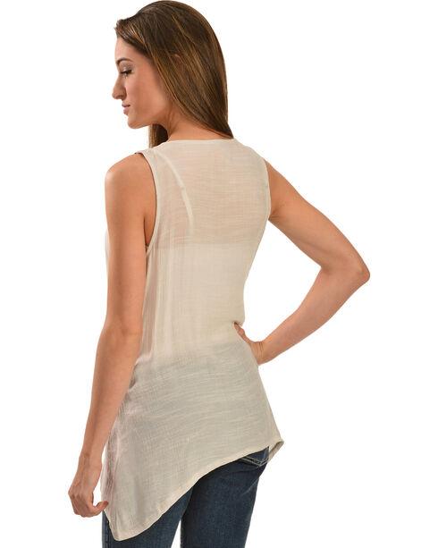 Wrangler Women's Jeweled Tank Top, White, hi-res