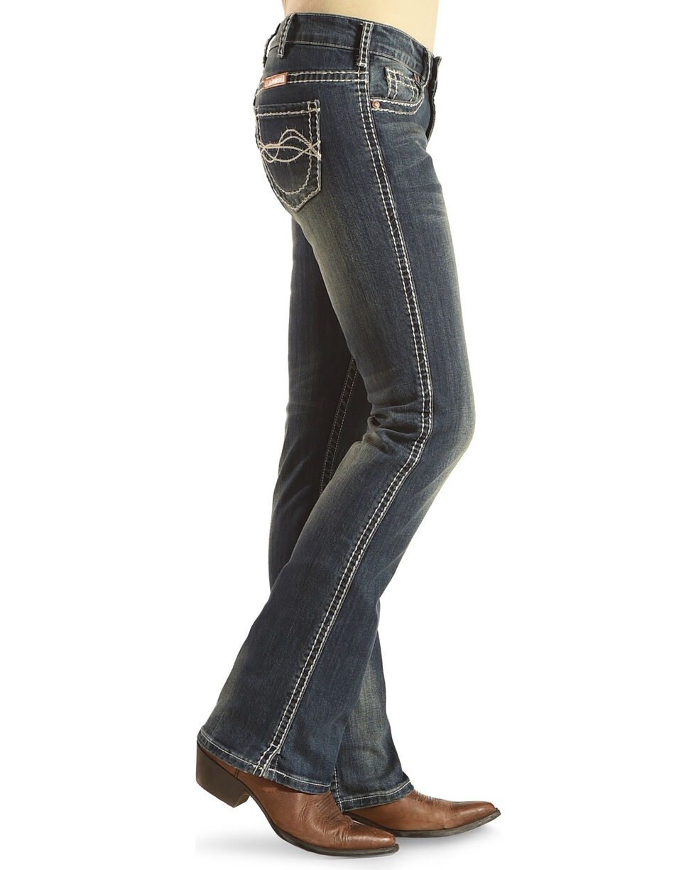 Cowgirl Tuff Women's Don't Fence Me In Jeans, Blue, hi-res