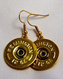 SouthLife Supply Women's Abigail Single Dangle Shotshell Earring in Traditional Gold, , hi-res