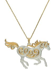 Montana Silversmiths Run Free Pendant Necklace, , hi-res