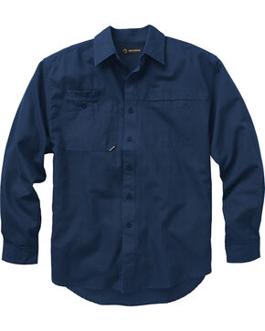 Dri Duck Men's Mason Work Shirt, Dark Blue, hi-res
