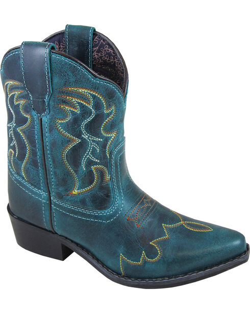 Smoky Mountain Youth Girls' Juniper Western Boots - Pointed toe , Brown, hi-res