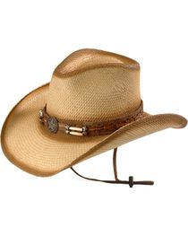 Bullhide Men's Dundee Straw Hat, , hi-res