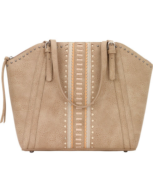 Bandana by American West Women's El Dorado Zip Top Bucket Tote, Beige/khaki, hi-res