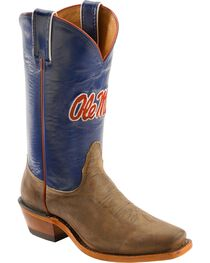 Nocona Women's University of Mississippi College Boots, , hi-res