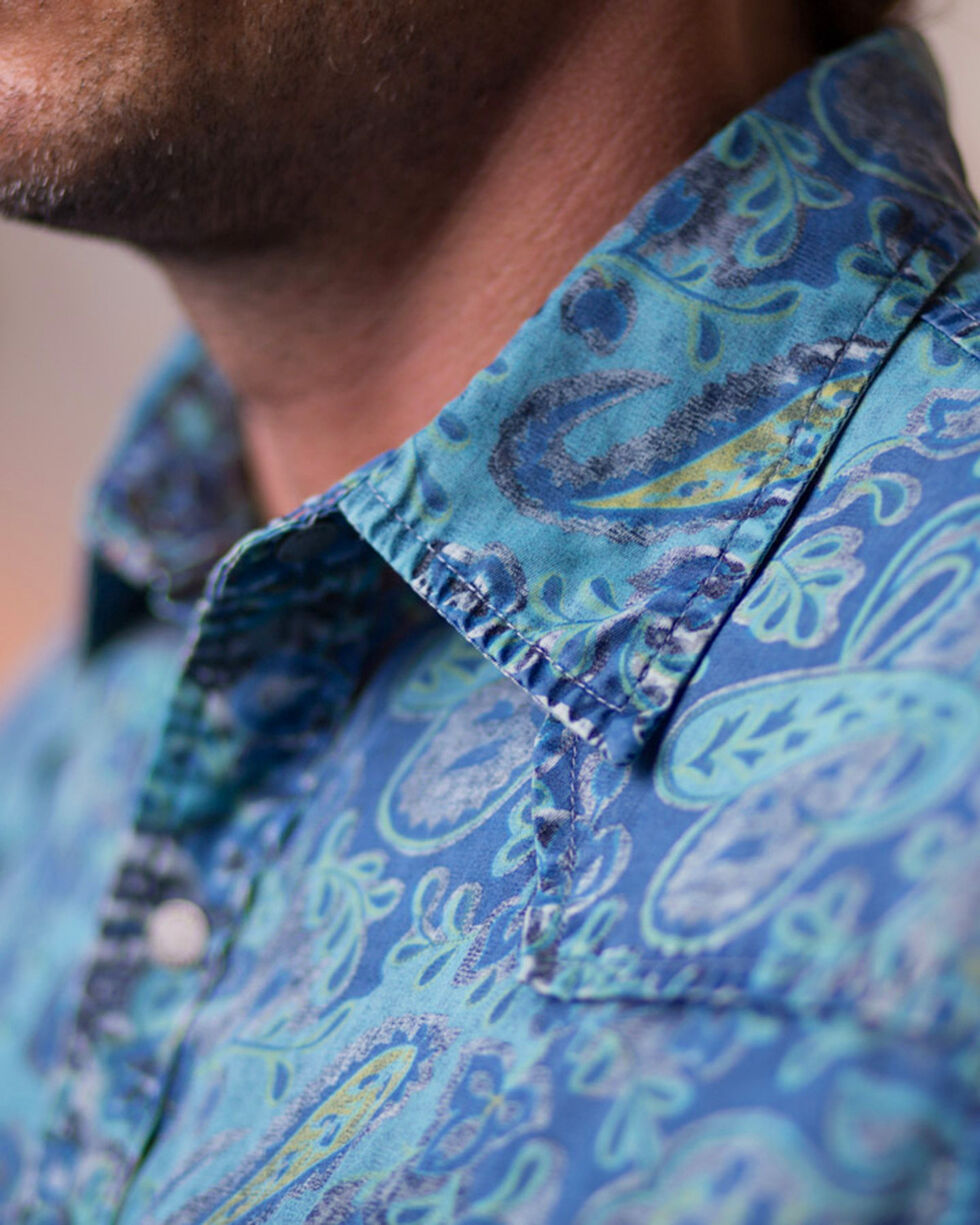 Ryan Michael Men's Indigo Paisley Print Shirt, Indigo, hi-res
