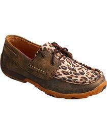 Twisted X Boots Women's Cheetah Print Driving Mocs, , hi-res