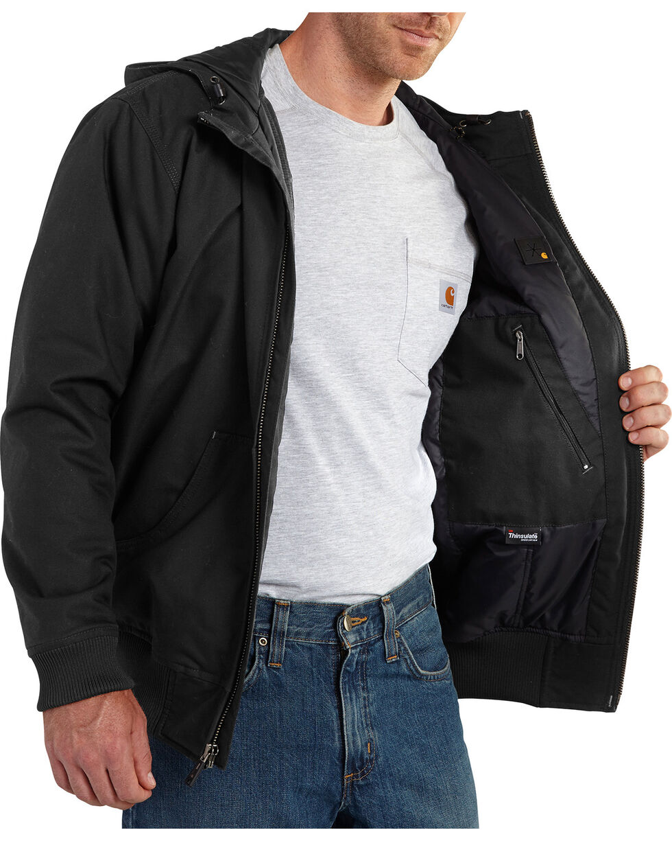 Carhartt Men's Quick Duck Jefferson Active Jacket - Big & Tall, Black, hi-res