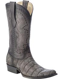Corral Men's Alligator Round Toe Exotic  Boots, Grey, hi-res