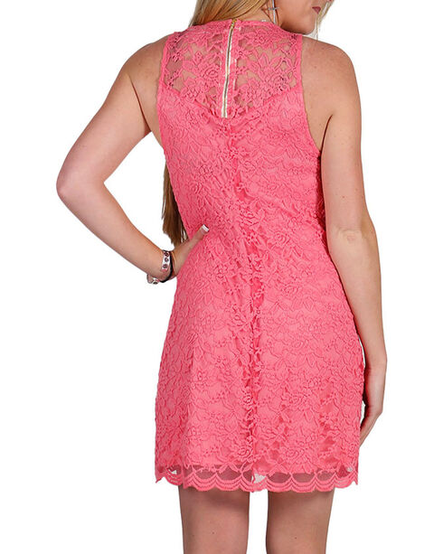 Jody Of California Women's Lace Dress, Coral, hi-res