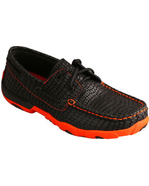 Twisted X Women's Pattern Driving Mocs, Black, hi-res