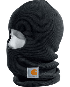 Carhartt Men's Ribbed Knit Face Mask, Black, hi-res
