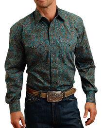Stetson Men's Paisley Printed Long Sleeve Shirt, , hi-res