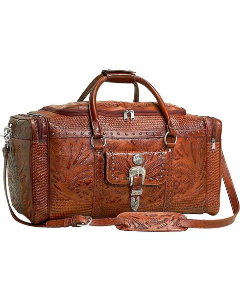 American West Retro Romance Zip Arount Rodeo Bag, Tan, hi-res