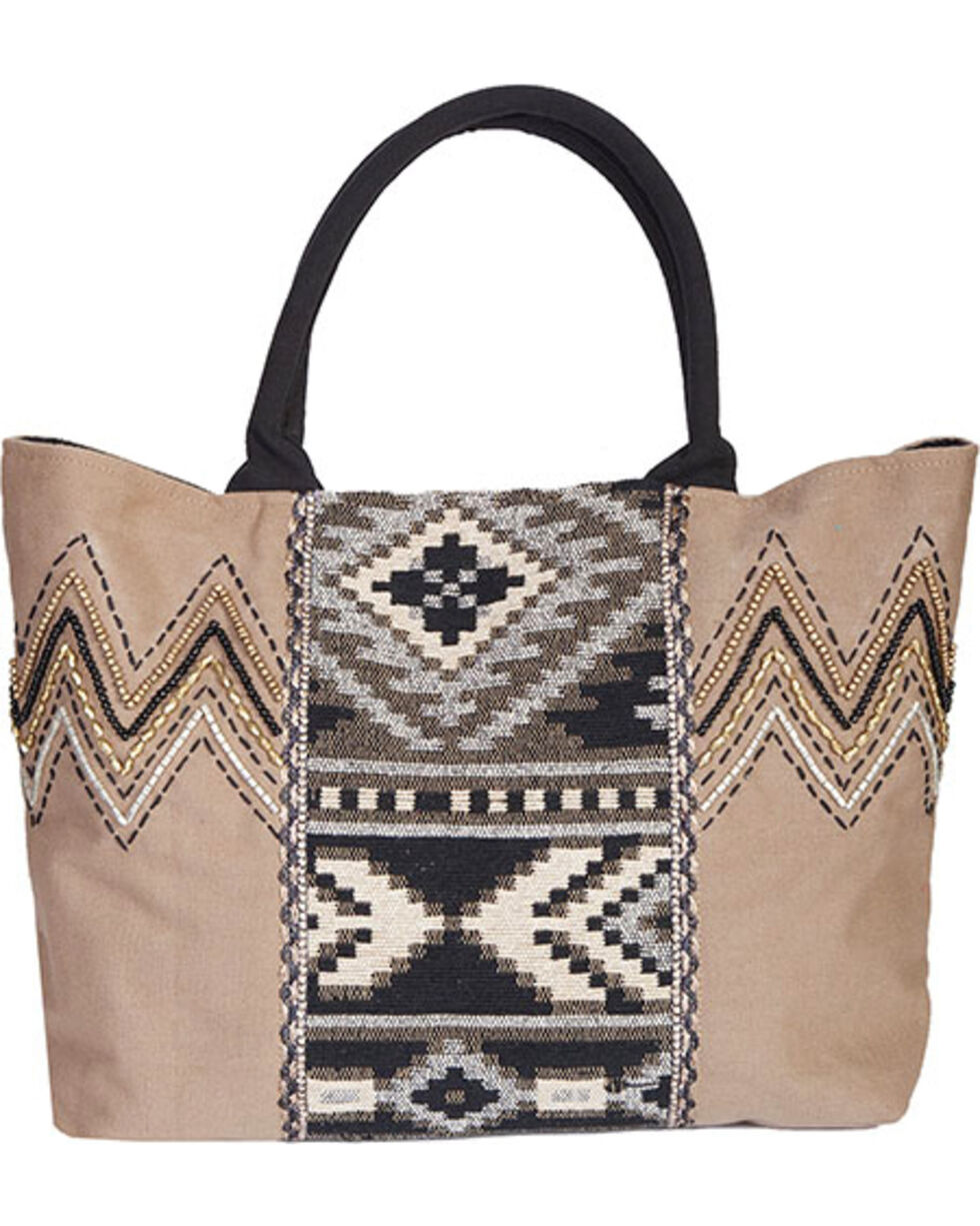 Scully Cantina Collection Taupe Cotton Canvas Handbag, Taupe, hi-res