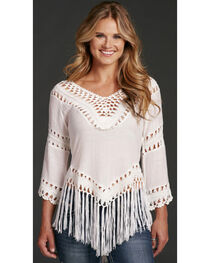 Cowgirl Up Women's Fringe Top , , hi-res