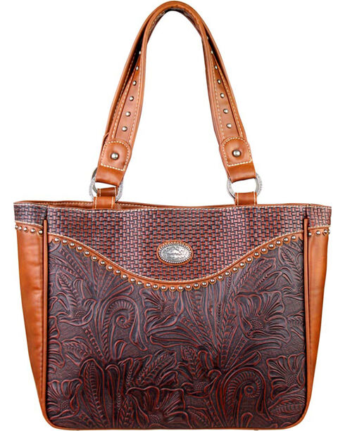 Montana West Trinity Ranch Floral Leaf Pattern Concealed Handgun Collection Handbag, , hi-res