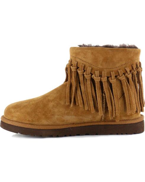 UGG® Women's Winona Fringe Short Boots, Brown, hi-res