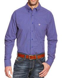Ariat Men's Dot Patterned Pocket Long Sleeve Shirt, , hi-res