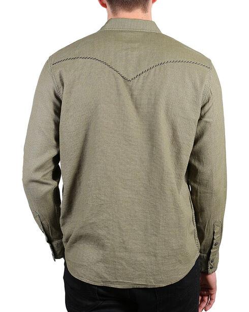 Cody James®  Men's Solid Long Sleeve Shirt , Olive, hi-res