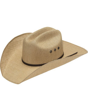 Twister 8X Jute Three Cord Brown Band Cowboy Hat, Natural, hi-res