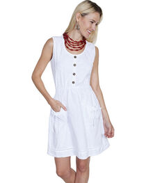 Scully Cantina Collection Sleeveless Cotton Button Front Dress, , hi-res